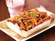 Chili-Cheese Sweet Potato Fries