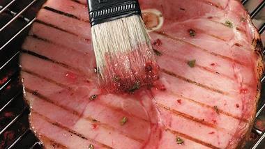 Jalapeño-Glazed Ham Steak