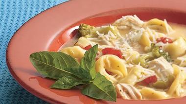Chicken-Broccoli-Tortellini Soup