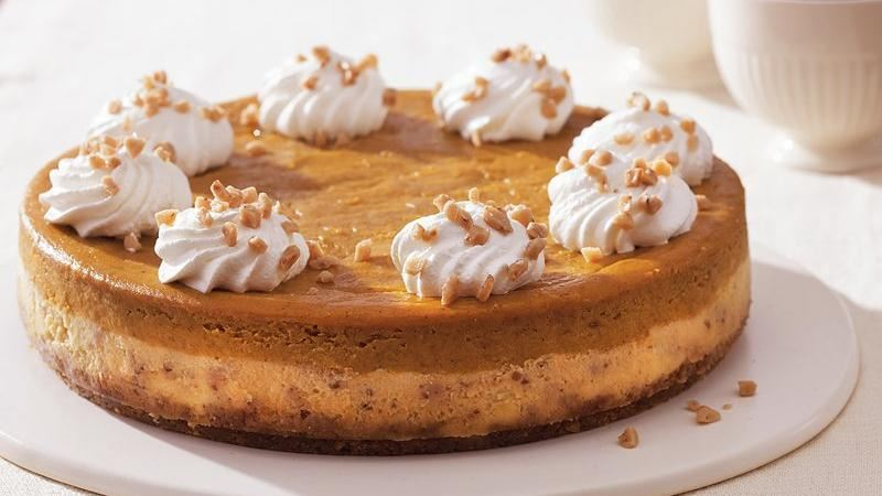 Toffee-Pumpkin Cheesecake