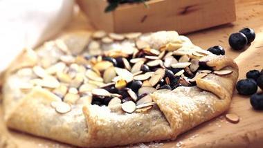 Fresh Blueberry Almond Tart