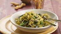 Tagliatelle Pasta with Asparagus and Gorgonzola Sauce