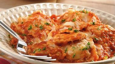 Slow-Cooker Cheesy Ravioli Casserole