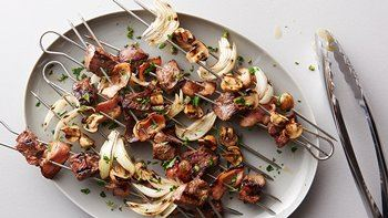 Grilled Beef Bourguignon Kabobs