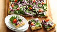 Greek Appetizer Flatbread