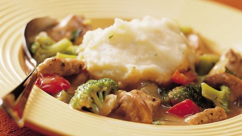 Savory Pork Stew with Potato Dumplings