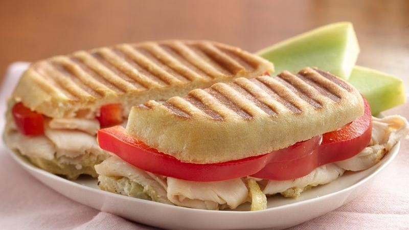 Turkey, Artichoke and Parmesan Panini
