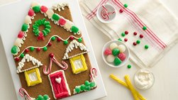 Giant Gingerbread House Cookie