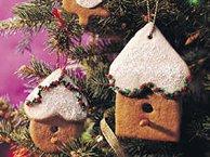 Gingerbread Birdhouse Ornaments
