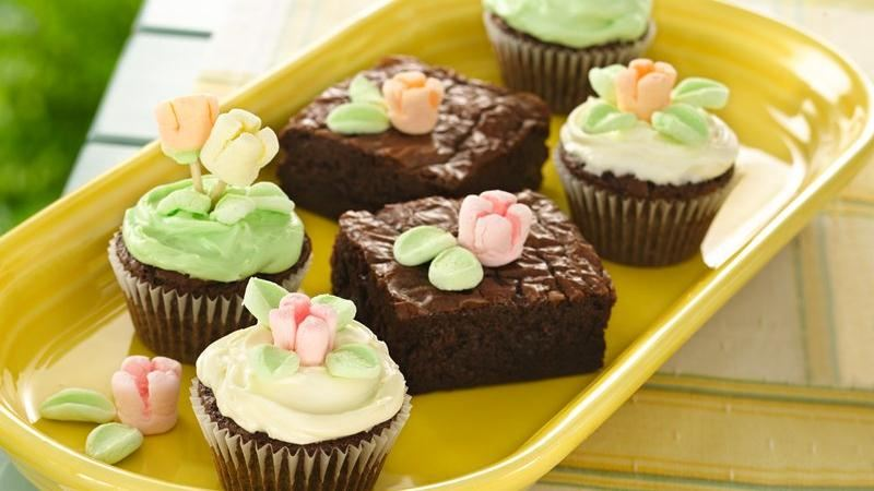 Spring Flower Brownies