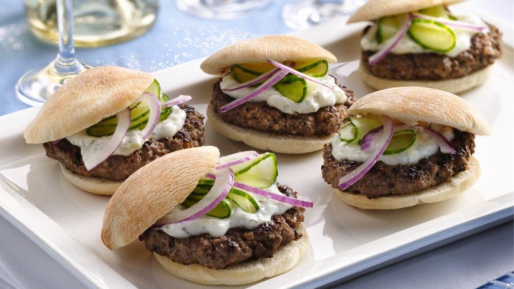Mini Greek Burgers
