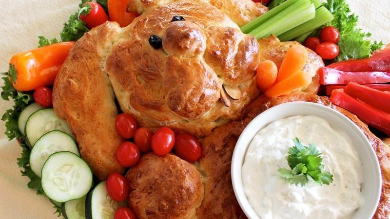 Bunny Bread Crudité Platter
