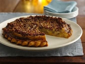 Caramel-Pecan Upside-Down Chai Apple Pie