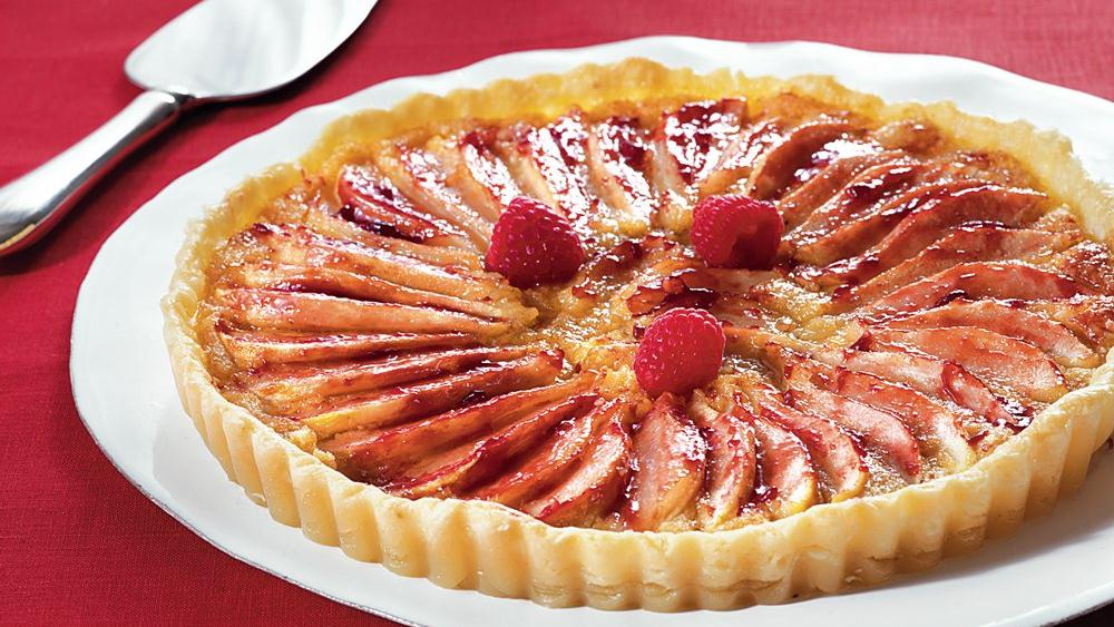 Raspberry-Almond-Pear Tart