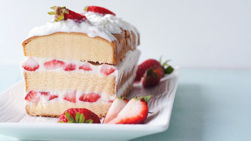Easy Ice Cream Strawberry Shortcake