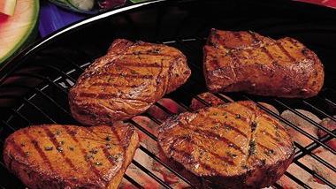 Grilled Lemon-Herb Steaks