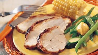Grilled Chili-Sauced Turkey Breast