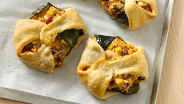 Crescent Wrapped Stuffed Peppers