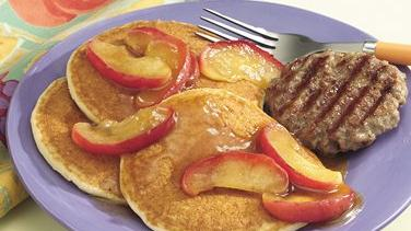 Sausage with Apple-Topped Pancakes