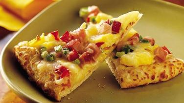 Ham and Swiss Pizza