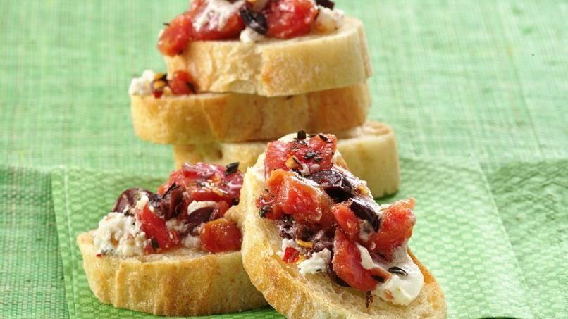 Tomato-Goat Cheese Bruschetta