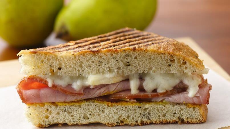 Hearty Ham and Pear Panini