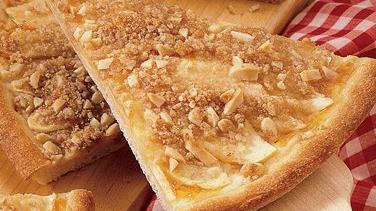 Fruity Almond Dessert Pizza