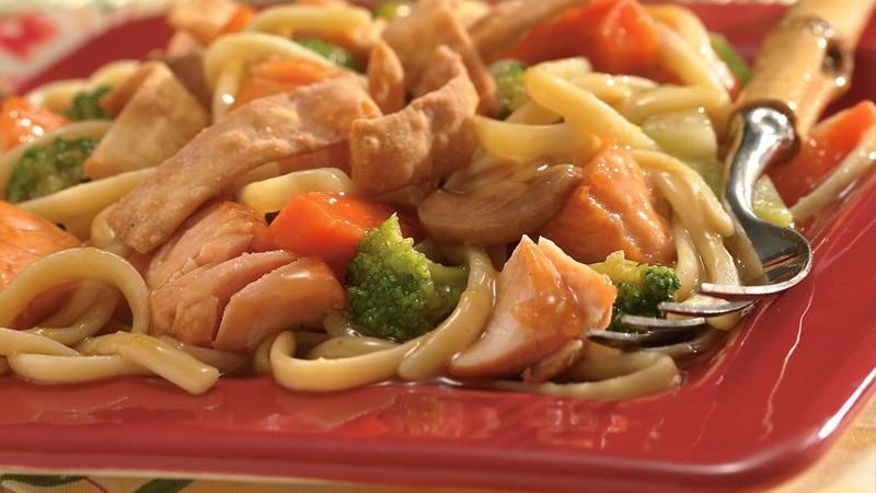 Salmon Lo Mein