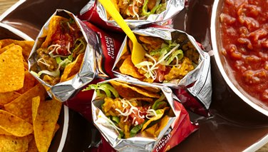 Cheesy Enchilada Walking Tacos