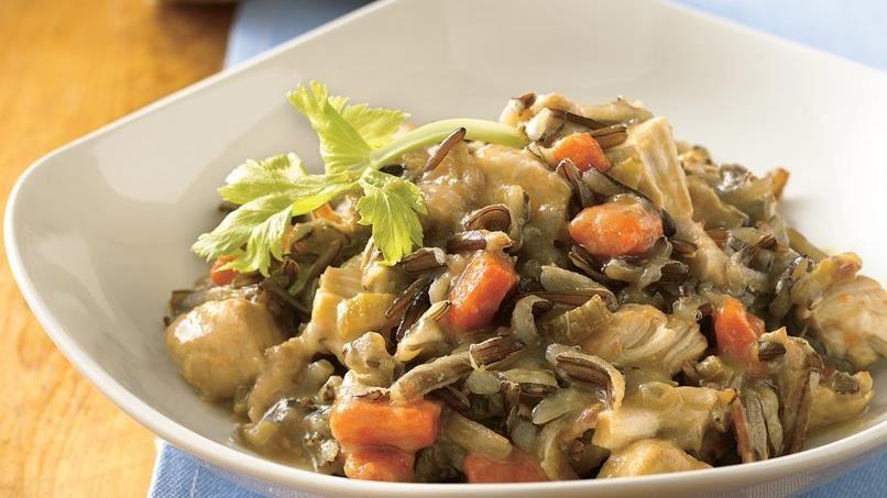 Slow-Cooker Turkey-Wild Rice Casserole