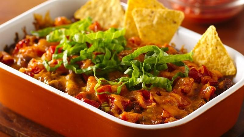 Fiesta Taco Casserole recipe from Betty Crocker