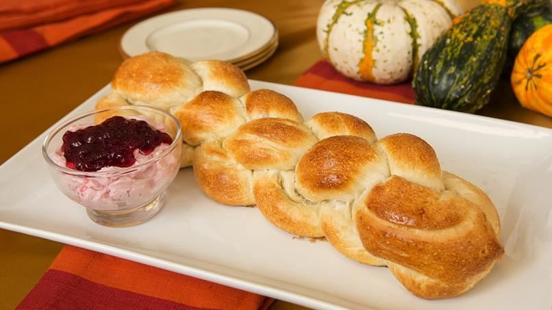Faux Challah Bread with Cranberry Butter