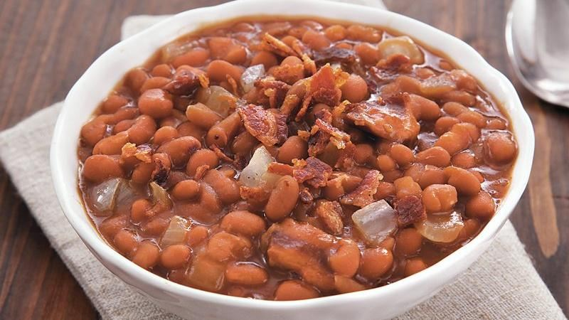 Slow-Cooker Bacon Brown Sugar Baked Beans