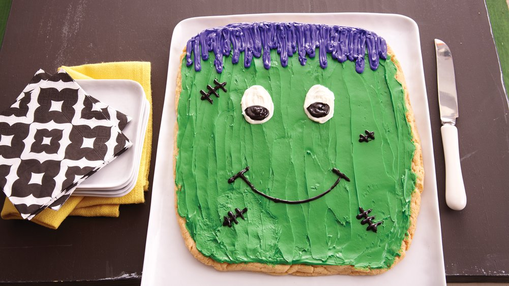 Frankenstein Cookie Cake