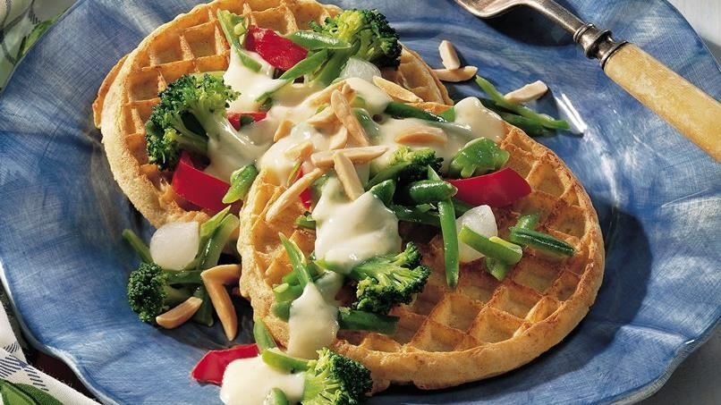Cheesy Veggie Waffles