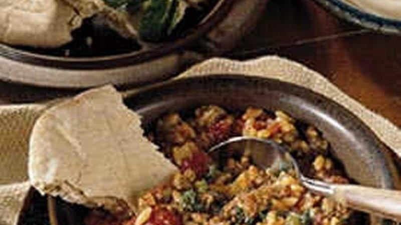 Greek Beef and Orzo