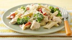 Pasta Cremosa con Pollo y Brócoli en Olla de Cocción Lenta