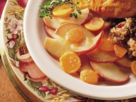 Maple-Glazed Carrots and Apples