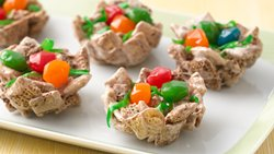 Bird Nests with Fruity Eggs