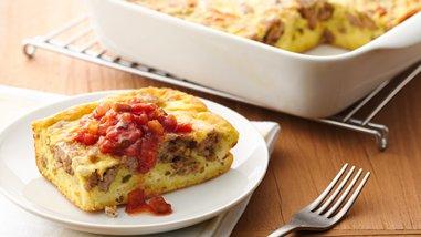 Overnight Southwestern Egg and Sausage Bake