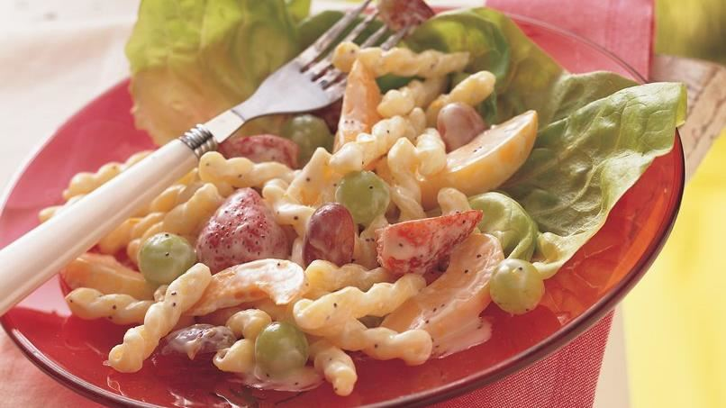 Fruit and Pasta Salad with Yogurt
