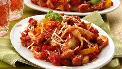 Fettuccine with Fennel and Spicy Sausage