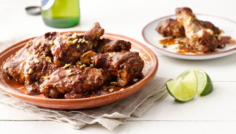 Slow-Cooker Mole Chicken Wings