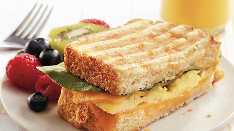 Cheddar Bread Breakfast Panini