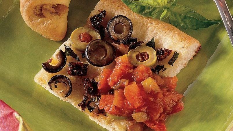 Sun-Dried Tomato and Olive Focaccia