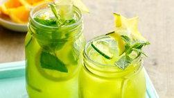 Agua Fresca de Pepino, Limón y Menta