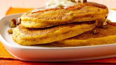 Candied Ginger Pumpkin Pancakes