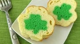 Mini Shamrock Reveal Pound Cakes