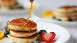 Mini Pancakes with Honey Citrus Syrup