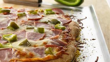Canadian Bacon-Whole Wheat Pizza